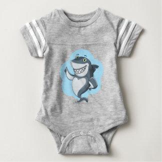 Cool shark baby bodysuit