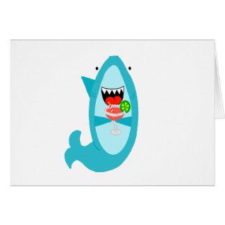 Cool Shark Drinking a Margarita Card