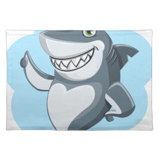 Cool shark placemat