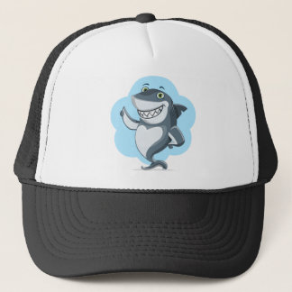 Cool shark trucker hat