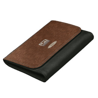Cool Shiny Logo Leather Look Personalized  Wallet