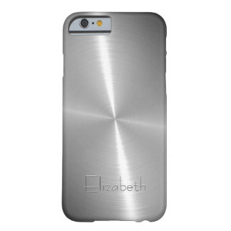 Cool Shiny Radial Steel Metallic Barely There iPhone 6 Case