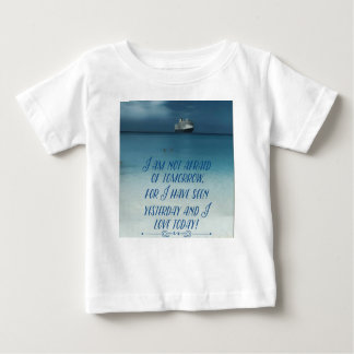 Cool Ship On Ocean Positive Quote Baby T-Shirt