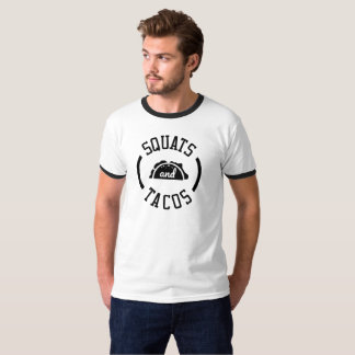 Cool Silhouette Squats and Tacos T-Shirt