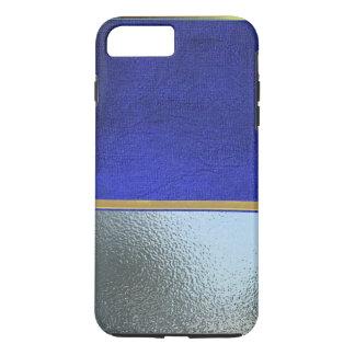 Cool Silver and Blue Velvet Slim Shell Case