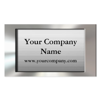 Cool Silver Frame Business Cards