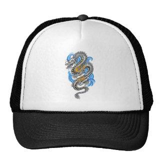 Cool Silver Oriental Dragon tattoo Trucker Hat