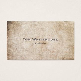 Cool Simple Aged Rustic Vintage Beige Stone Business Card