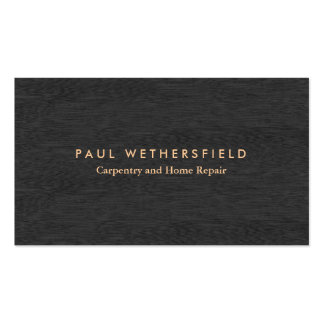 Cool Simple Dark Wood Carpentry and Maintenance Business Card