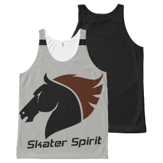 Cool Skate Unisex Tanktop with black strips All-Over-Print Tank Top