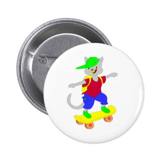 Cool skateboarding gifts for kids pinback buttons
