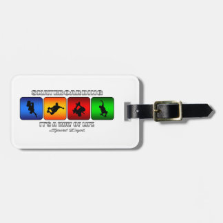 Cool Skateboarding It Is A Way Of Life Luggage Tag