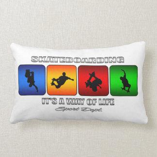 Cool Skateboarding It Is A Way Of Life Lumbar Pillow