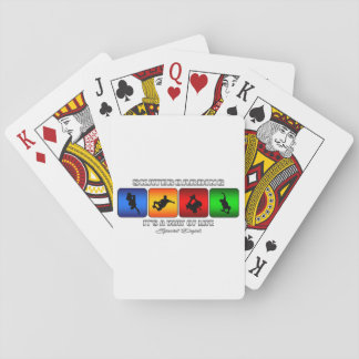 Cool Skateboarding It Is A Way Of Life Playing Cards