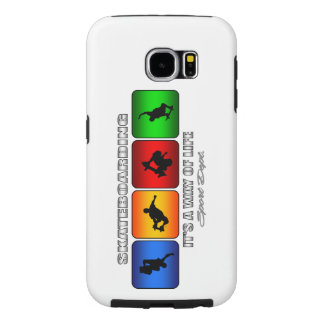 Cool Skateboarding It Is A Way Of Life Samsung Galaxy S6 Cases