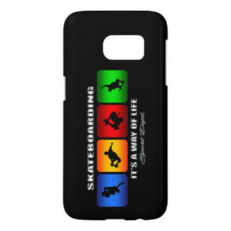 Cool Skateboarding It Is A Way Of Life Samsung Galaxy S7 Case