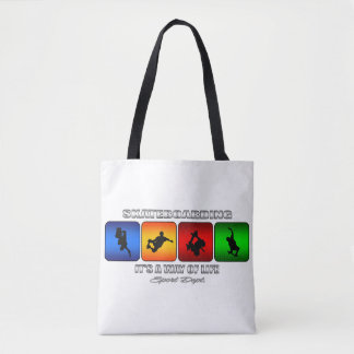 Cool Skateboarding It Is A Way Of Life Tote Bag