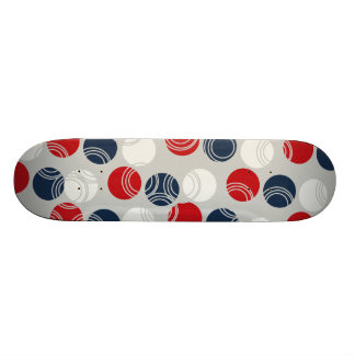 Cool Skateboards for Girls Blue Red Polka Dots
