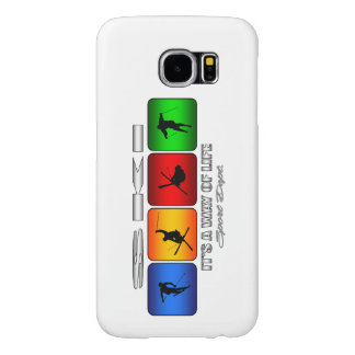 Cool Ski It Is A Way Of Life Samsung Galaxy S6 Cases