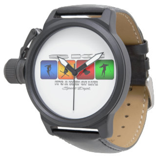 Cool Ski It Is A Way Of Life Wristwatch