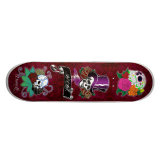 Cool Skull Trio Skateboard Deck