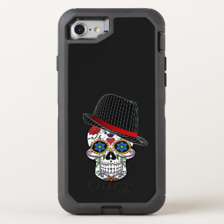 Cool Skull with Hut OtterBox Defender iPhone 8/7 Case