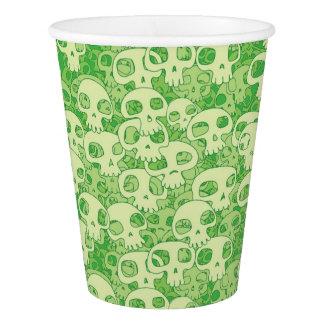 Cool skulls paper cup