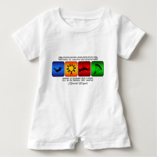 Cool Skydiving It Is A Way Of Life Baby Romper