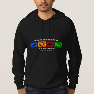 Cool Skydiving It Is A Way Of Life Hoodie