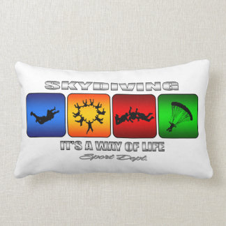 Cool Skydiving It Is A Way Of Life Lumbar Pillow