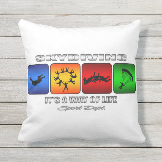 Cool Skydiving It Is A Way Of Life Outdoor Pillow