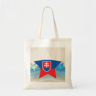 Cool Slovakia Flag at the Beach Tote Bag