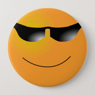 Cool Smiley 4 Inch Round Button