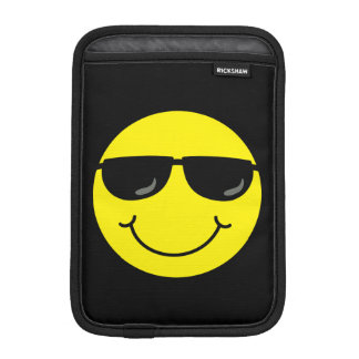Cool Smiley Face with Sunglasses iPad Mini Sleeve
