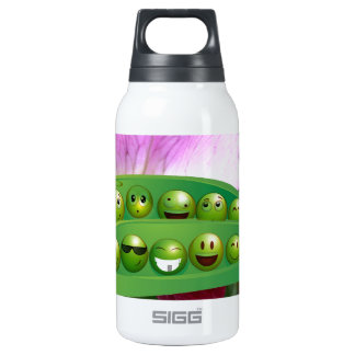 Cool Smiley Peas in-a Pod Multiple selecte Insulated Water Bottle