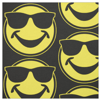 Cool Smiley yellow + your backg. & ideas Fabric