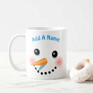 Cool Smiling Snowman Cartoon Coffee Mug