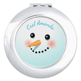 Cool Smiling Snowman Vanity Mirror