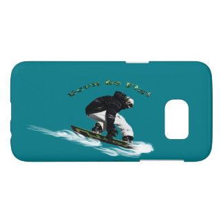 Cool Snow-Boarder Winter-Sports Theme Samsung Galaxy S7 Case