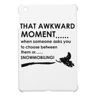 Cool Snow Mobiling designs iPad Mini Covers