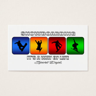 Cool Snowboarding It Is A Way Of Life Business Card