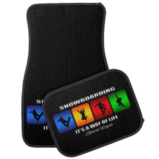 Cool Snowboarding It Is A Way Of Life Car Mat