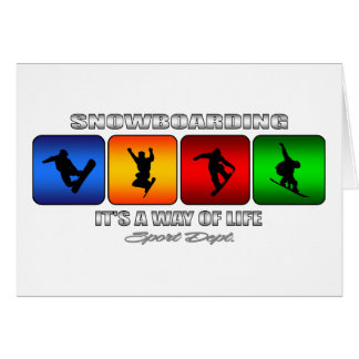Cool Snowboarding It Is A Way Of Life Card