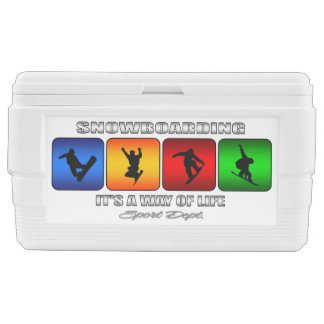 Cool Snowboarding It Is A Way Of Life Ice Chest