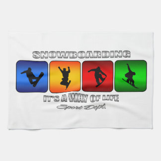 Cool Snowboarding It Is A Way Of Life Kitchen Towel
