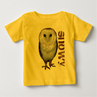 Cool snowy owl baby t-shirt design