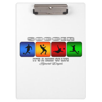 Cool Soccer It Is A Way Of Life Clipboard
