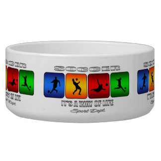 Cool Soccer It Is A Way Of Life Dog Food Bowls