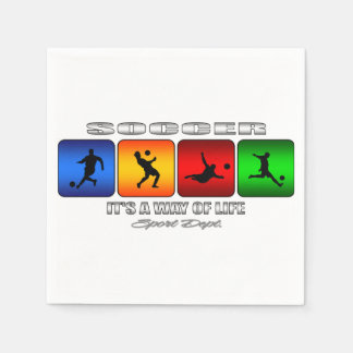 Cool Soccer It Is A Way Of Life Paper Napkins