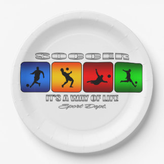 Cool Soccer It Is A Way Of Life Paper Plate